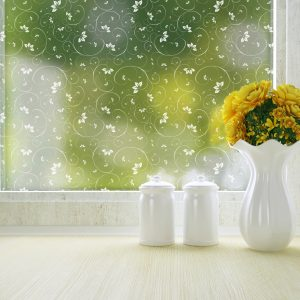 Jasmine frosted privacy window film pattern