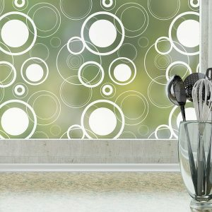 retro dots window film by odhams press