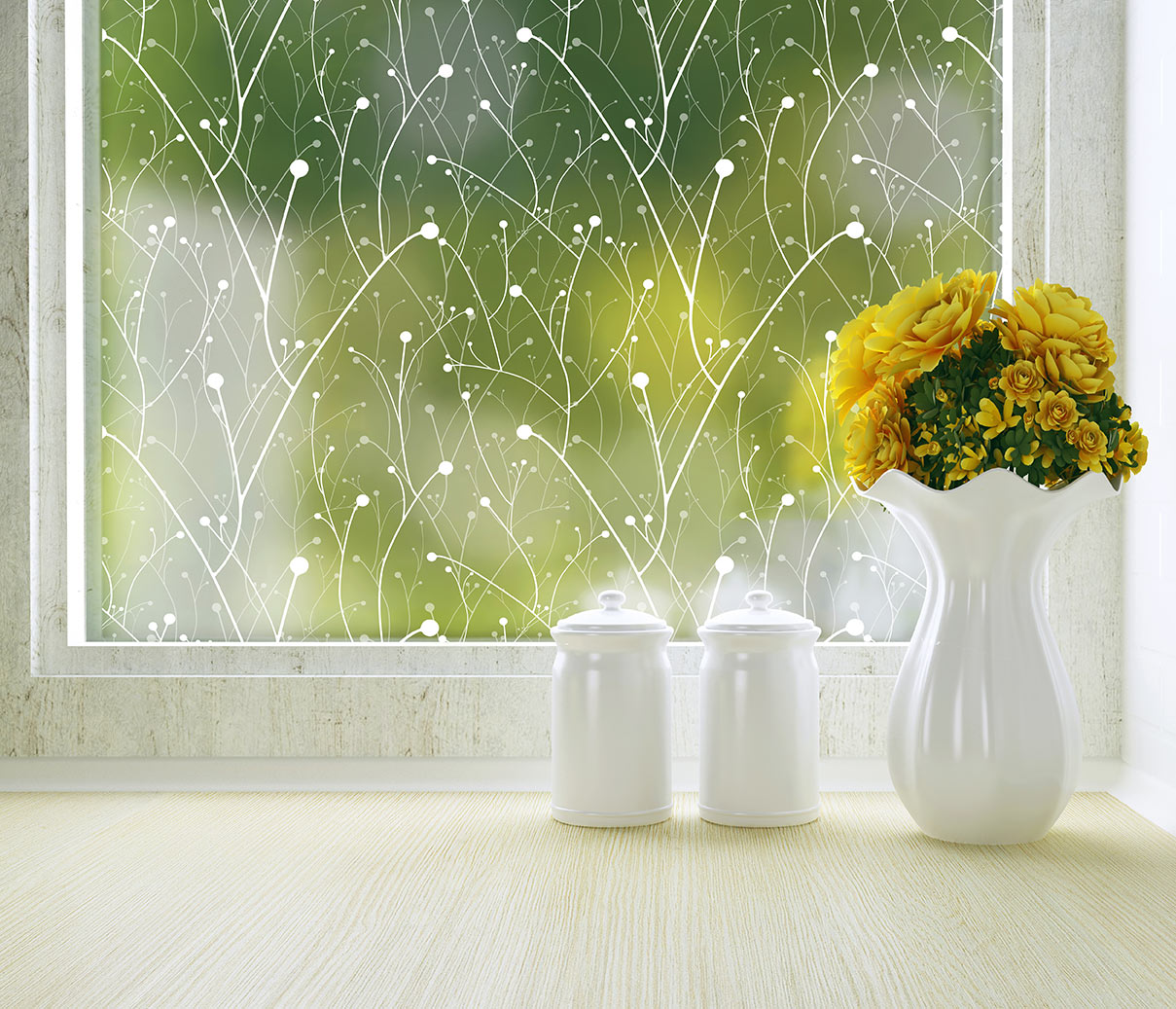 Willow modern window film decorative film for for Modern home decor