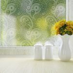 paisley window film frosted by odhams press