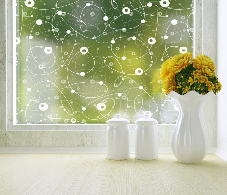 Atomic Retro Patterned Privacy Window Film
