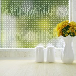 bits and bytes digit patterned privacy window film by odhams press