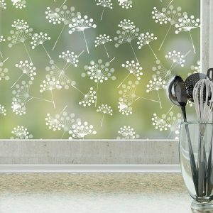 Dandelion Privacy Window FIlm Pattern by Odhams Press