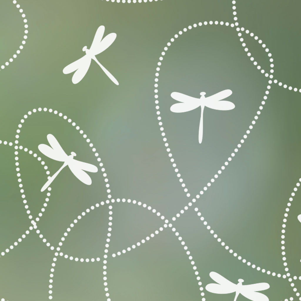 Dragonflies Patterned Privacy Window Film
