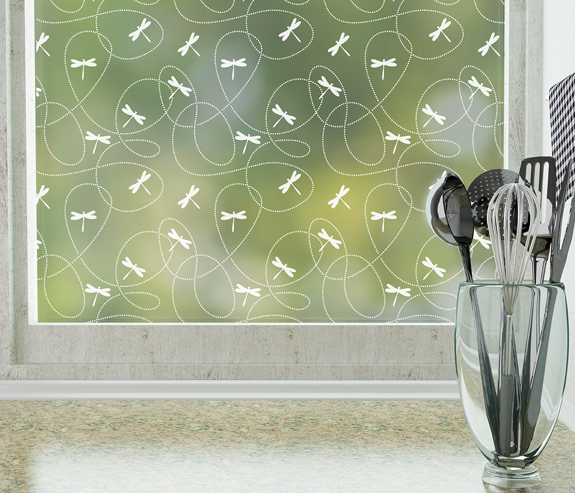 dragonfly pattern window film
