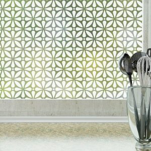 Geo Flora privacy window film by Odhams Press