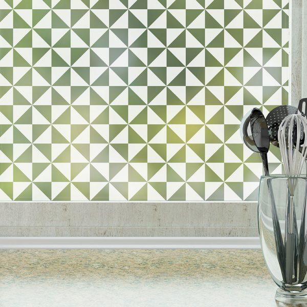 pinwheel pattern window film frosted by odhams press