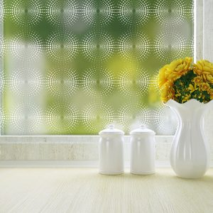 radiant geometric pattern privacy window film
