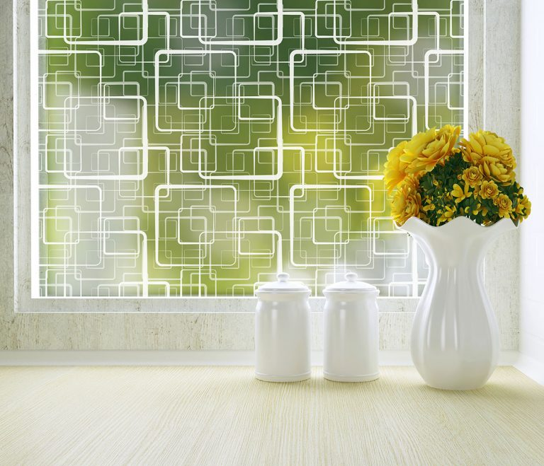 Retro Squares Adhesive Decorative & Privacy Window Film by odhams press
