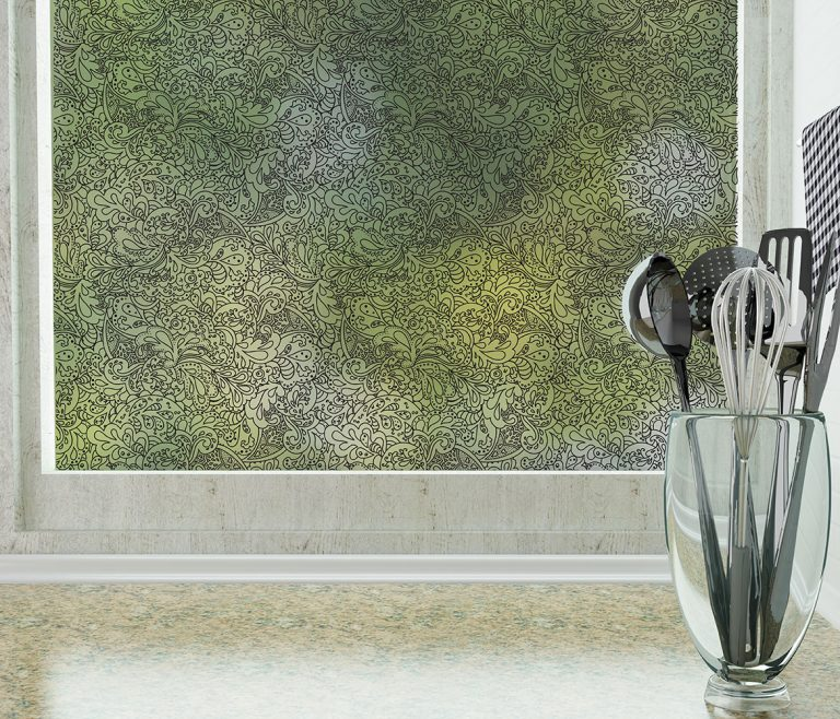 Sketchbook Abstract Patterned Privacy Film for windows