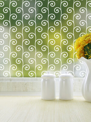 Sprouts Patterned Privacy Window Film