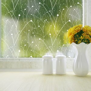 Willow Patterned Privacy Window Film